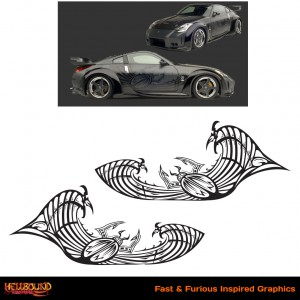 Fast and Furious 350Z Inspired Decals