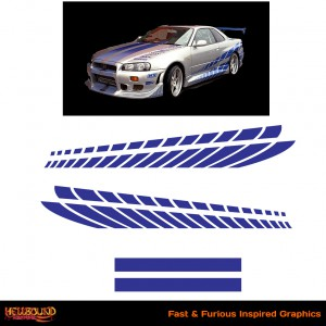 Fast and Furious Silver Skyline Inspired Decals