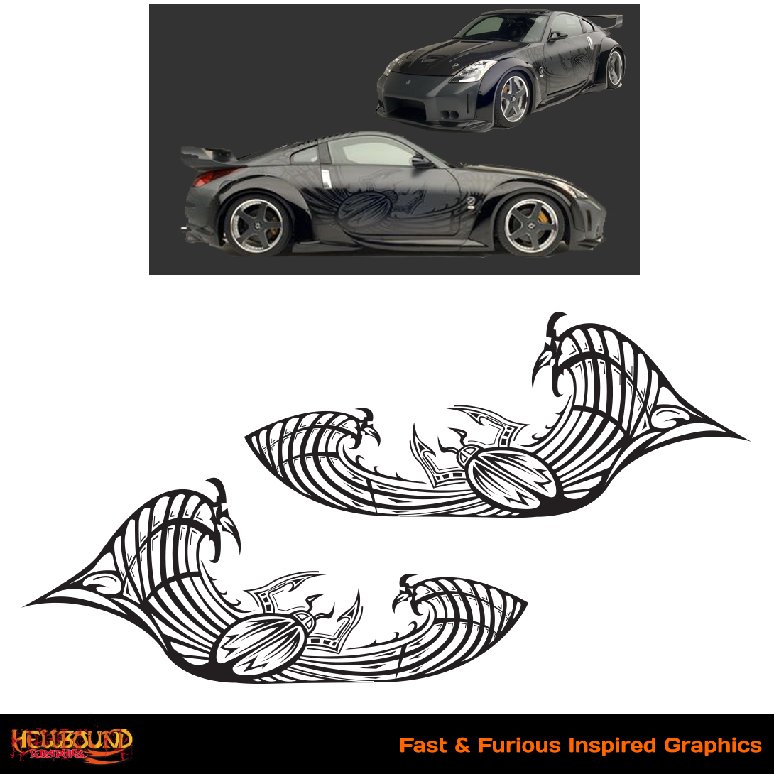 Fast and furious inspired decals 2 hellbound graphics