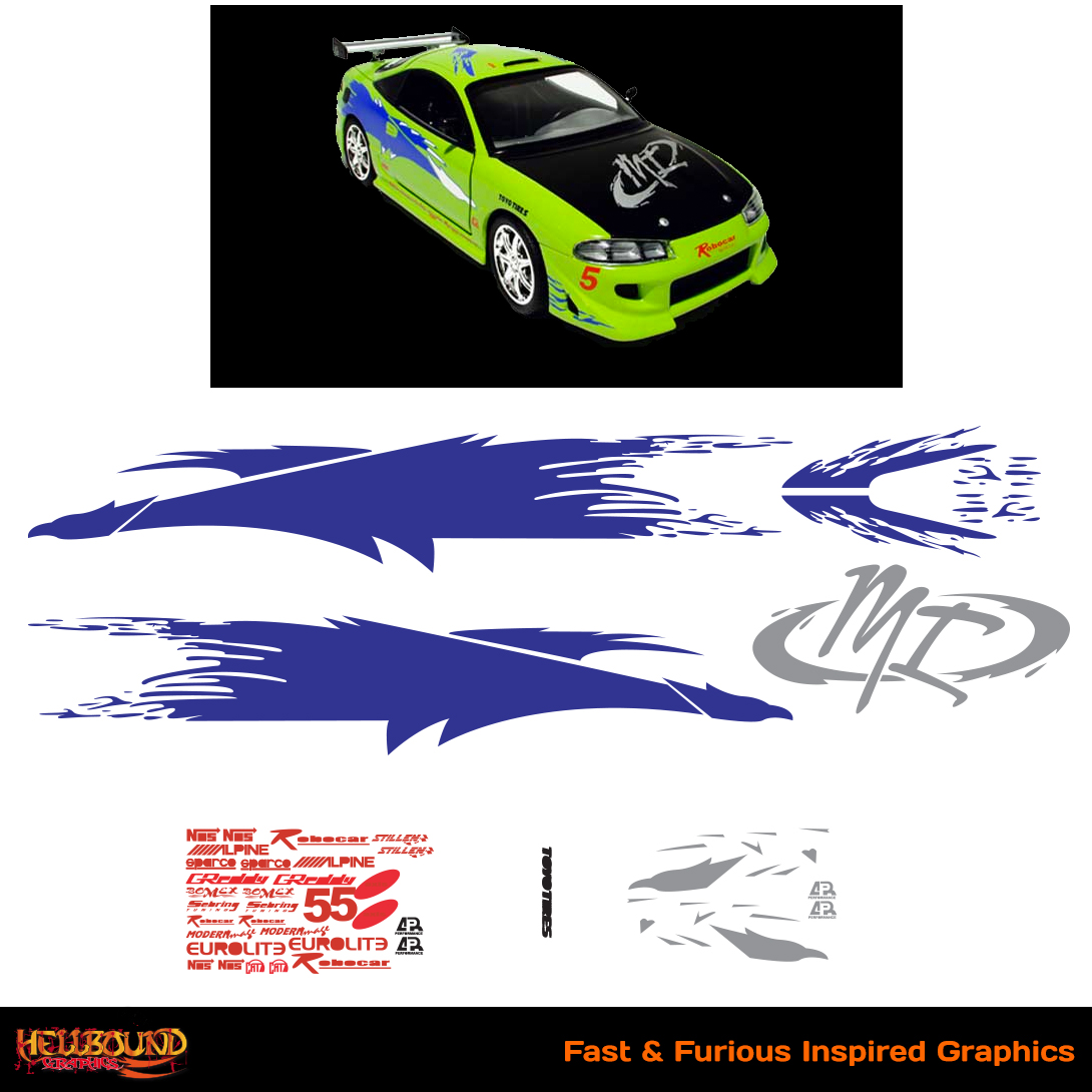 Fast and furious inspired decals 3 hellbound graphics