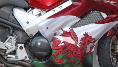 Welsh Flag Bike Wrap