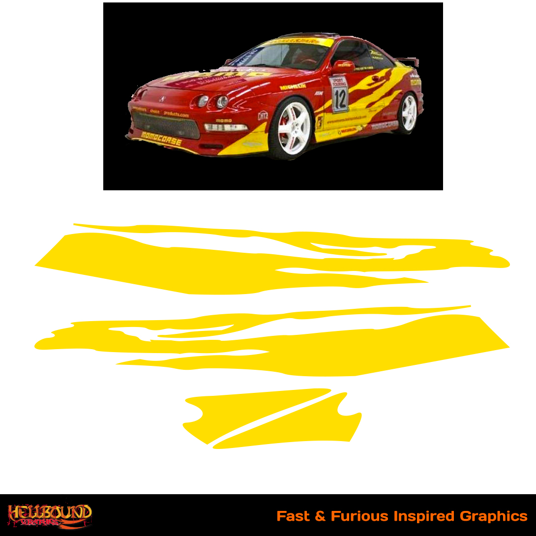 Fast and furious inspired decals 5 hellbound graphics