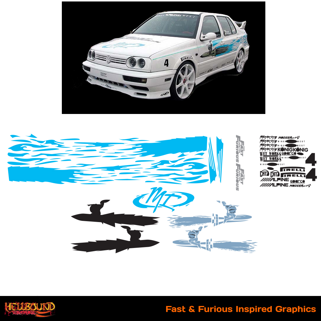 Car Decals From Fast And The Furious