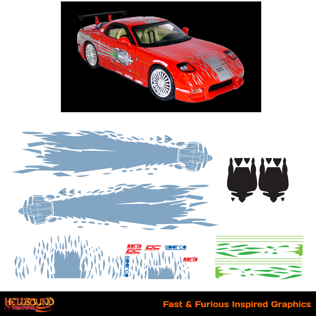 Fast and furious inspired decals 8 hellbound graphics