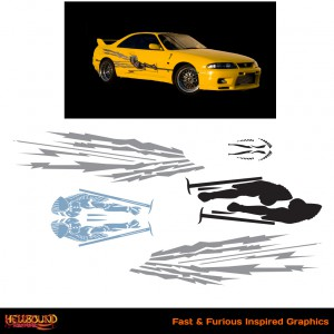 Fast and Furious Yellow Skyline Inspired Decals