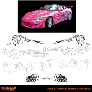 Fast and Furious S2000 Inspired Decals