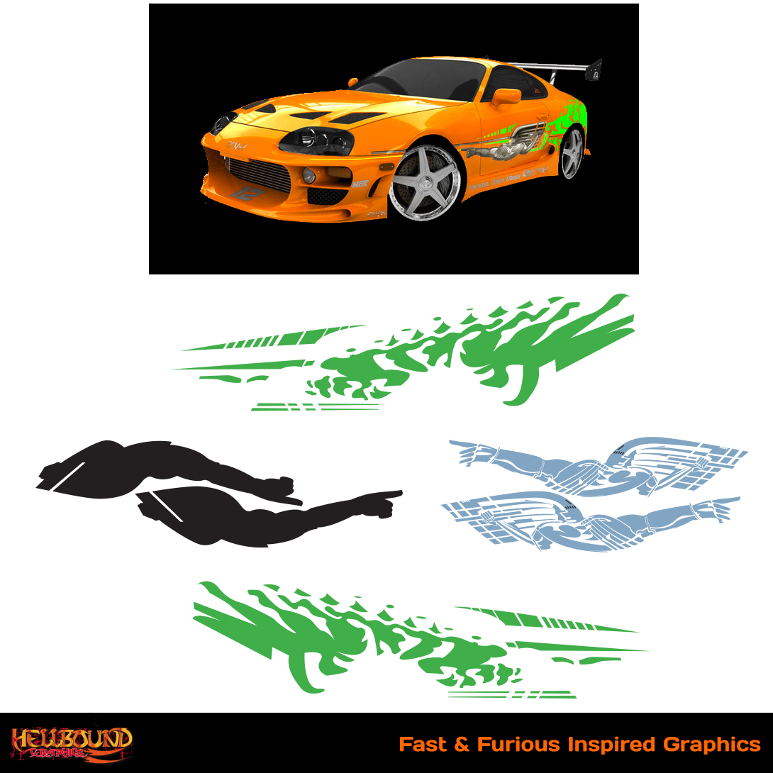 Fast and furious inspired decals 1