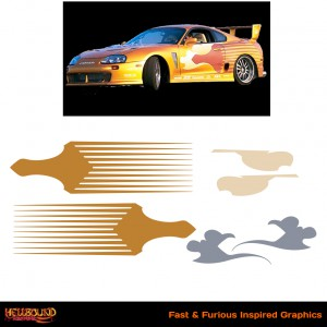Fast and Furious Gold Supra Inspired Decals