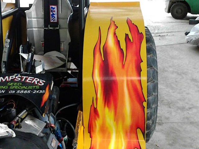 Tractor Flame Decals